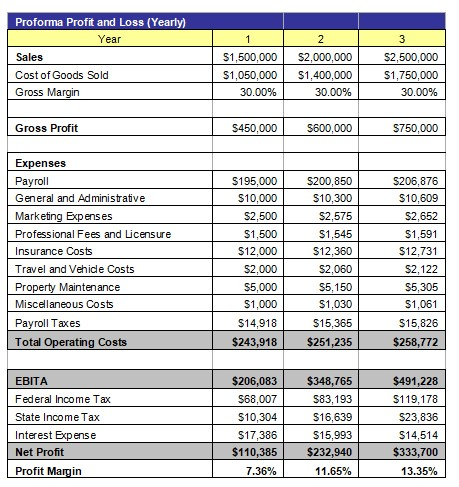 Property Rehabber Profit and Loss Statement