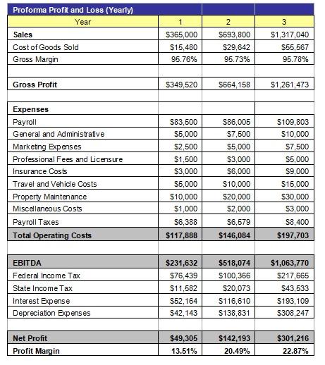 Profit and Loss Statement