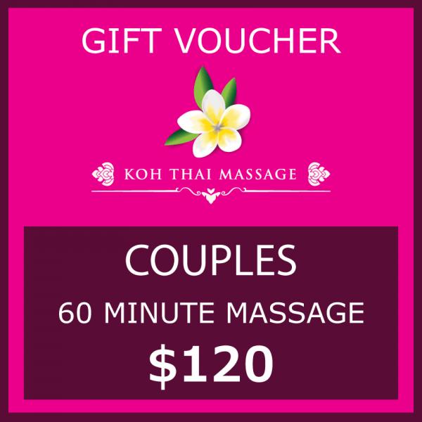 Gift voucher couples 60 minutes