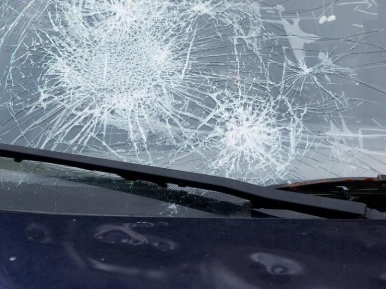 Hail Damage Car Windshield