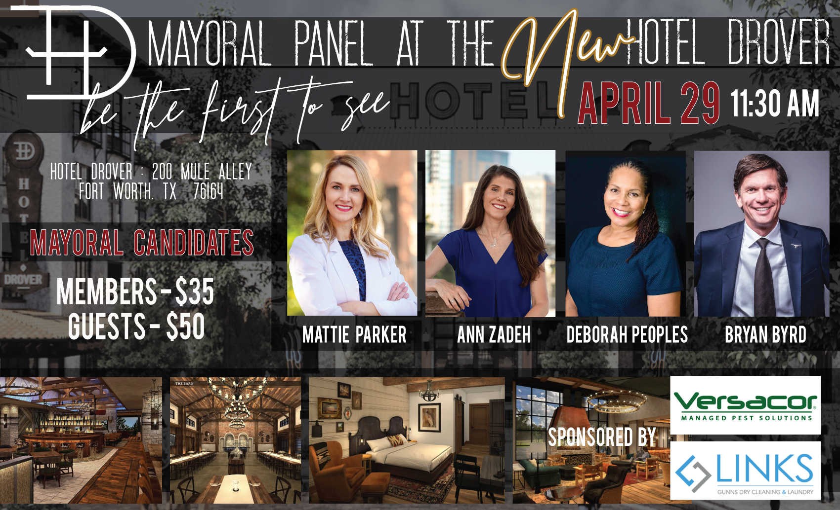 Mayoral Forum at the NEW Hotel Drover