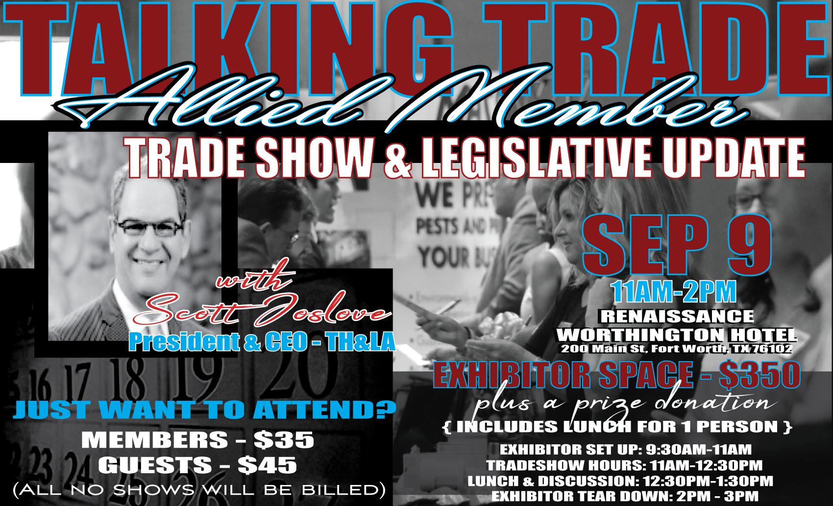 September Legislative Update & Tradeshow
