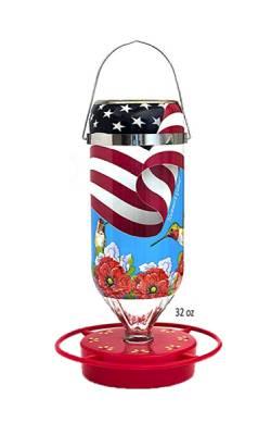 All American Flag Feeder 16 and 32 oz