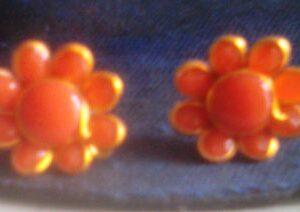 Orange colour Pachi Studs