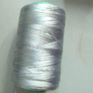 Silver silk thread