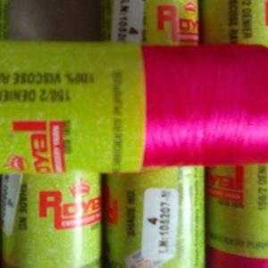 Pink silk thread
