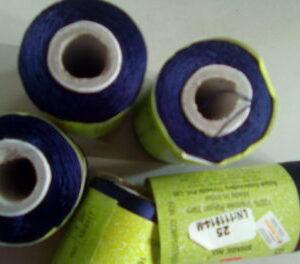 Dark blue silk thread