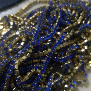 dark blue stone chain