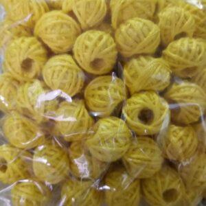 yellow cotton thread beads