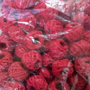 Cotton thread beads maroon