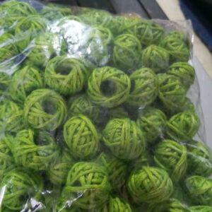 light green cotton thread beads