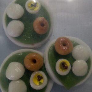 Clay food rakhi base idly vada combo