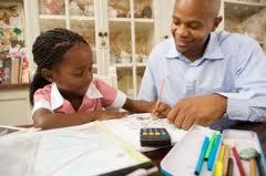 Dad home school, African American Home School, Dad & Daughter