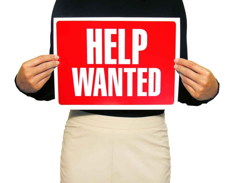 Help wanted sign, hiring a babysitter, how to hire a babysitter