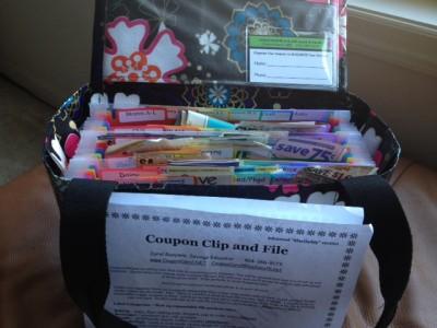 coupon organizer, coupon holder, coupon clip and file, coupon carol