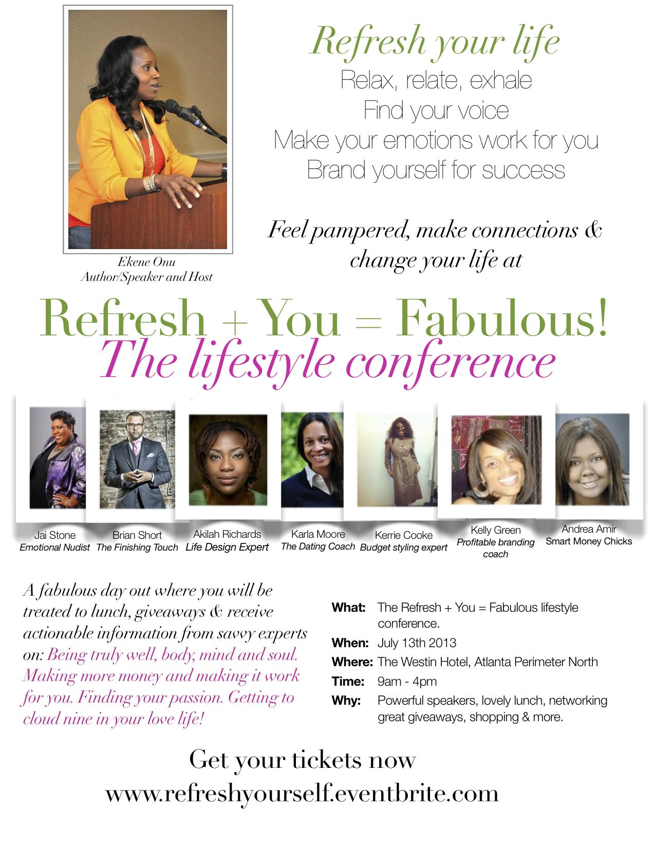 Refresh + You = Fabulous Event in Atlanta