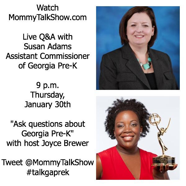 Live Webcast: Ask Questions About Georgia Pre-K ~ MommyTalkShow.com