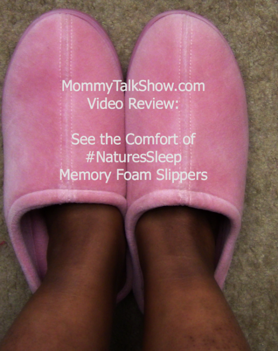 Video Review: See the comfort of #NaturesSleep Memory Foam Slippers ~ MommyTalkShow.com