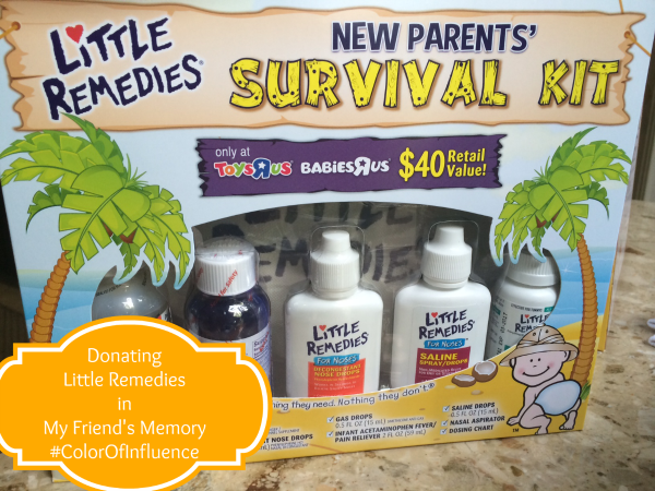 Donating Little Remedies in My Friend's Memory ~ MommyTalkShow.com