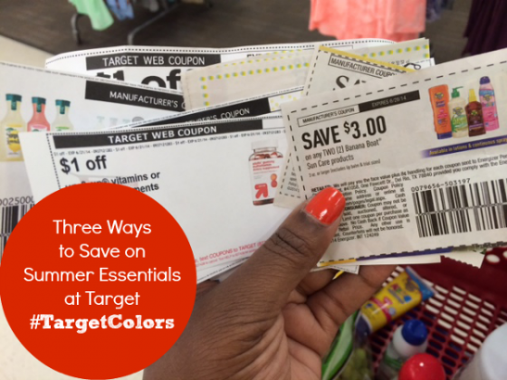 Three Ways to Save on Summer Essentials at Target #TargetColors ~ MommyTalkShow.com