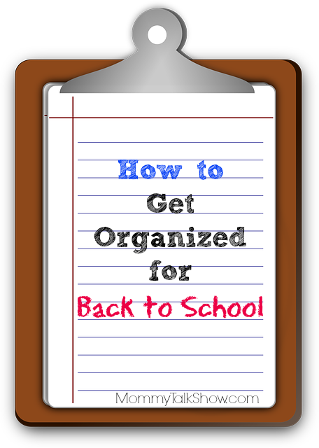 How to Get Organized for Back to School ~ MommyTalkShow.com