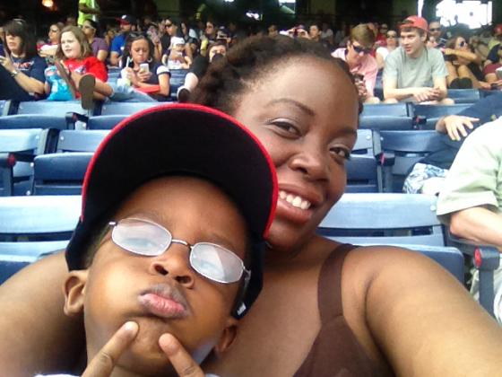 A.J. and Mommy at Braves Game