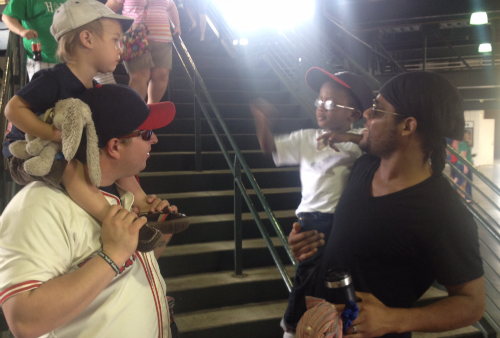 Friend at Boys at Braves Game