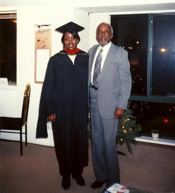 Me & Daddy graduation