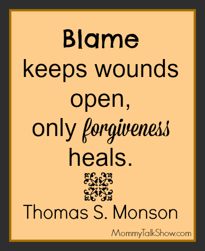 Blame Keeps Wounds Open