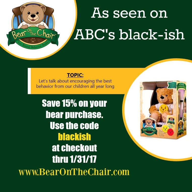 Blackish Bear on the Chair