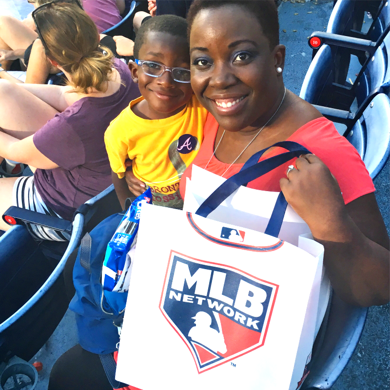 A.J. & Mommy Braves Game