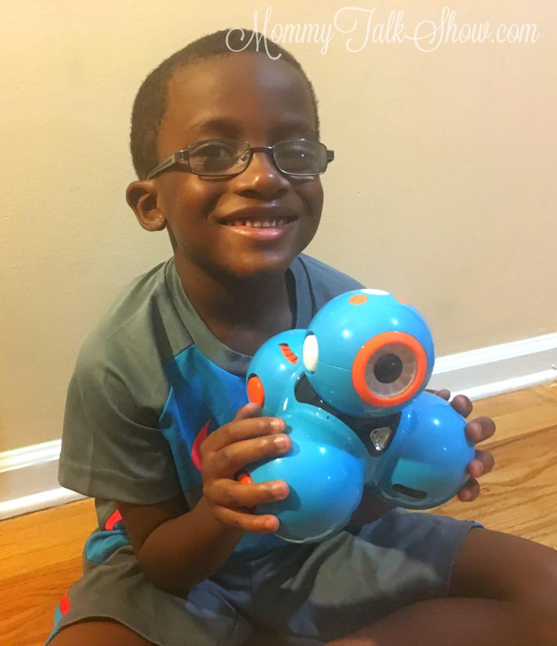 A.J. with Dash Robot