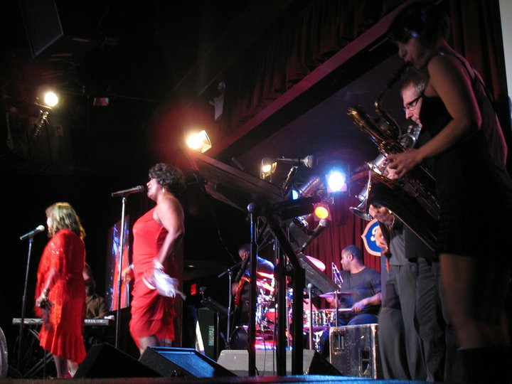 with Martha Reeves and the Vandellas, BB Kings, NYC