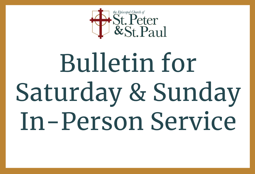 Click Here for In-Person Service Bulletin