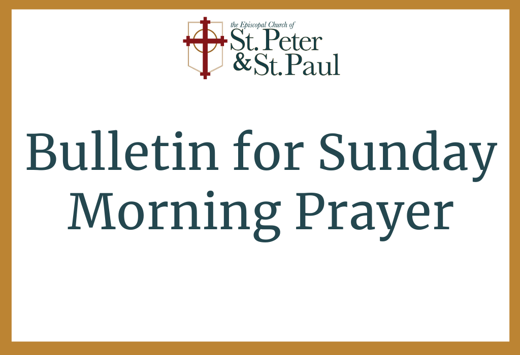 Click Here for Morning Prayer Bulletin