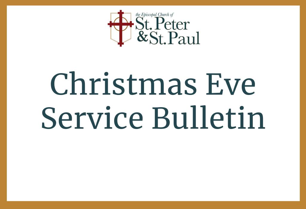 Christmas Eve Service Bulletin