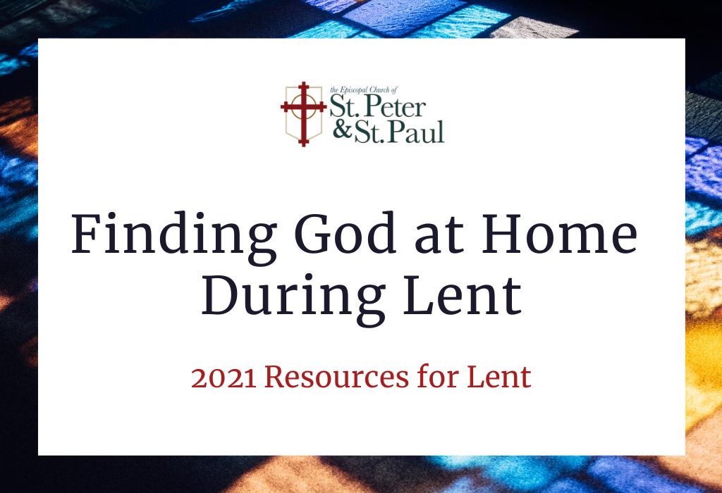 2021 Lenten Devotional & Resources