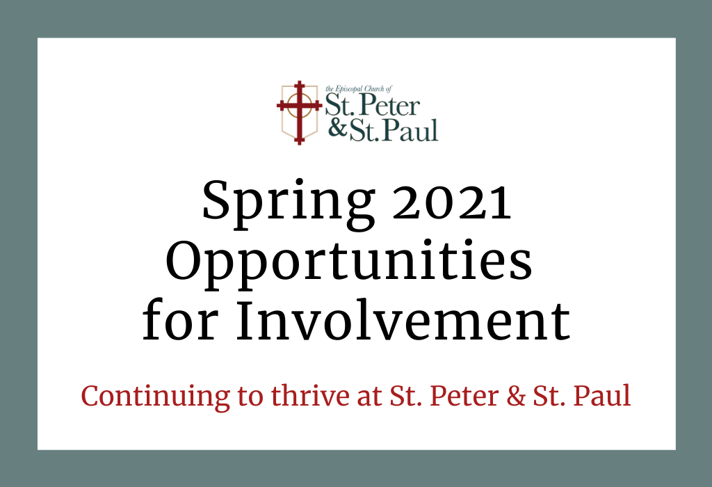 Spring 2021 Opportunities for Involvement