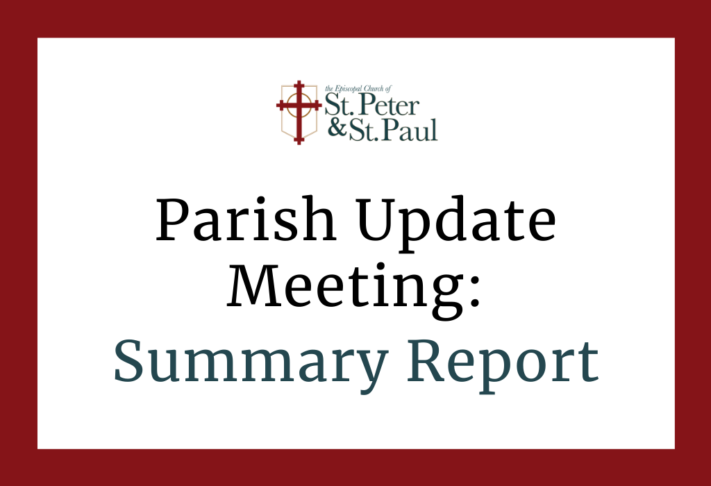 2020 Statistics & Ministry Review for St. Peter & St. Paul (Parish Update Meeting, 2/21/21)