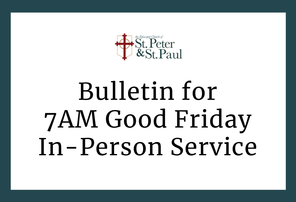 7AM Good Friday In-Person Service