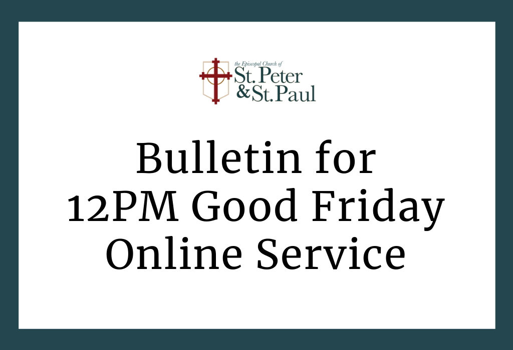 12PM Good Friday In-Person Service