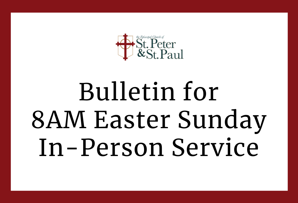 8:00am, 9:30am, & 11:00am Easter Sunday In-Person Service