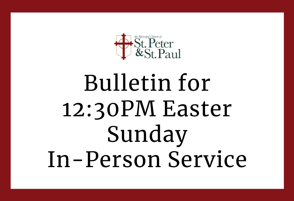 12:30PM Easter Sunday In-Person Service