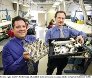 SAN FERNANDO VALLEY BUSINESS JOURNAL SPOTLIGHTS HYDRA-ELECTRIC GROWTH IN SENSOR MARKET