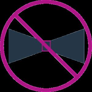 No Bow Tie Error Bands