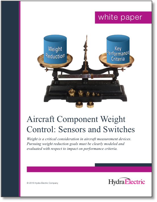 Aircraft Component Weight Control: Sensors and Switches