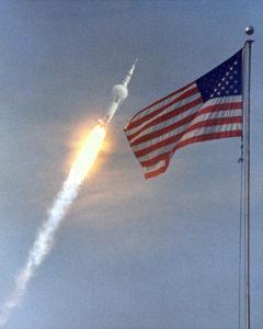 Saturn V in flight July 16 1969 - NASA