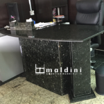 Granite slabs formed into table. Designed and produced by Maldini Granite and Marbles Nigeria LTD.