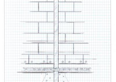 Soldier Beam - Block Wall