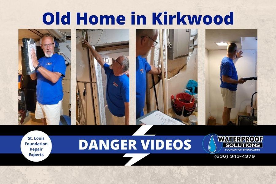 Waterproof Solutions St. Louis Danger Videos foundation repair old home in Kirkwood, Mo